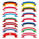 Ribbons of countries Royalty Free Stock Images