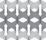 Ribbons dark and light spirals pattern Stock Photography