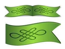 Ribbons with endless celtic knot Royalty Free Stock Image