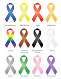 Ribbons / eps / Vector. Variety of ribbons with a drop-shadow. Vector file available Royalty Free Stock Photography