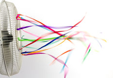 Ribbons on a Fan Royalty Free Stock Images