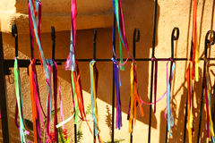 Ribbons fence Stock Photo