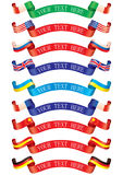 Ribbons flags Stock Photography