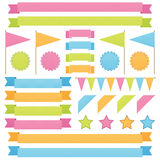 Ribbons and flags Stock Image