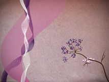 Ribbons and flower illustration Royalty Free Stock Photography