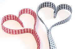 Ribbons forming two hearts Royalty Free Stock Image