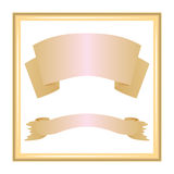 Ribbons in a frame Stock Image