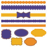 Ribbons and frames Royalty Free Stock Photography