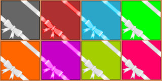 Ribbons for gift box Stock Images