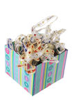 Ribbons in Gift Box Stock Photography