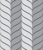 Ribbons gray vertical chevron pattern Royalty Free Stock Image