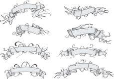 Ribbons - Hand Drawn Royalty Free Stock Images