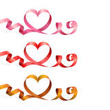 Ribbons with heart Royalty Free Stock Photography