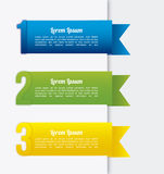 Ribbons infographics Stock Photography