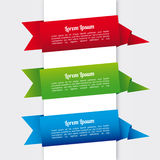 Ribbons infographics Royalty Free Stock Image