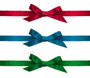 Ribbons isolate on white Stock Photo