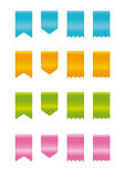 Ribbons or labels. Or web icons illustration stock illustration