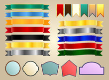 Ribbons and labels Stock Photography