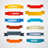 Ribbons, Labels Set. Colorful Retro Ribbons, Labels Set Royalty Free Stock Photo