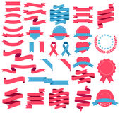 Ribbons and labels. Vector illustration. Royalty Free Stock Image
