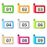 Ribbons with numbers Stock Photography
