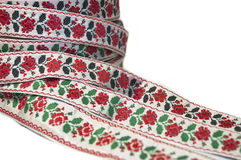 Ribbons with ornament Stock Image