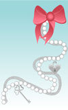 Ribbons and pearls Royalty Free Stock Photos