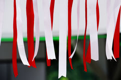 Ribbons Poland. Ribbons in the national colors of Poland - red and white Stock Photography