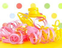 Ribbons with a polka dot background Royalty Free Stock Images