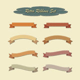 Ribbons in retro vintage style. Royalty Free Stock Images
