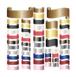 Ribbons scroll tapes. Set of ribbons scroll tapes Royalty Free Stock Image