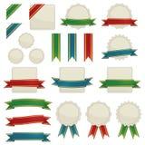 Ribbons and seals Royalty Free Stock Photos