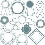 Ribbons & Seals Collection Royalty Free Stock Image