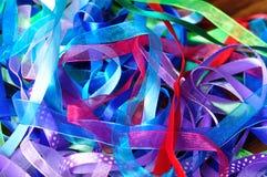 Ribbons. A selection of colorful ribbons stock photos