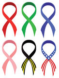 Ribbons set Stock Photo