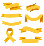 Ribbons set Stock Image