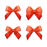 Ribbons set for Christmas gifts. Red gift bows Stock Photography