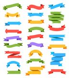 Ribbons set stock illustration