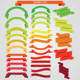 Ribbons  set colorful Stock Photo