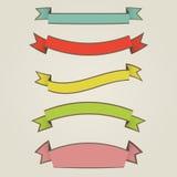 Ribbons set Stock Image
