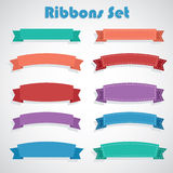 Ribbons set Stock Photos