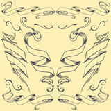 Ribbons Set 02. Ribbons element vector Set 02 for use royalty free illustration