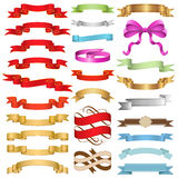 Ribbons Set II Stock Photography