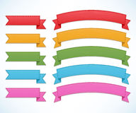 Ribbons set Royalty Free Stock Image