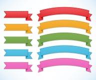 Ribbons set Royalty Free Stock Image