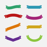 Ribbons set Stock Photography