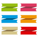 Ribbons set for text, differents colors Stock Image