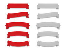 Ribbons set 2. Vector ribbons set in two colors vector illustration