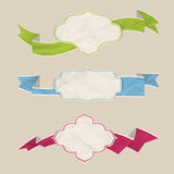 Ribbons set Stock Images