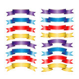 Ribbons Set. On white background Royalty Free Stock Image
